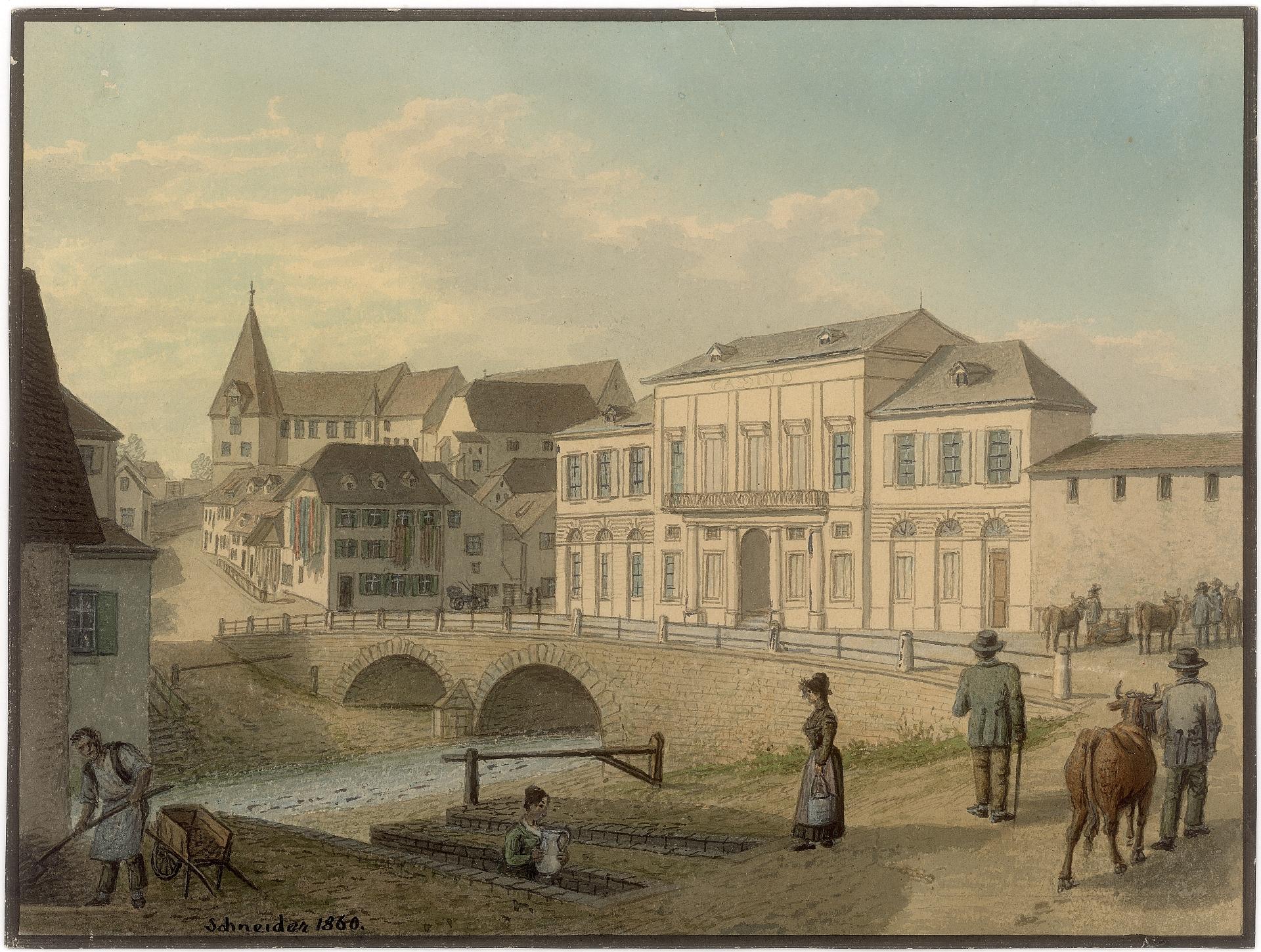 Birsig beim Steinenberg 1860 Schn. 49 aus dem Staatsarchiv Basel-Stadt