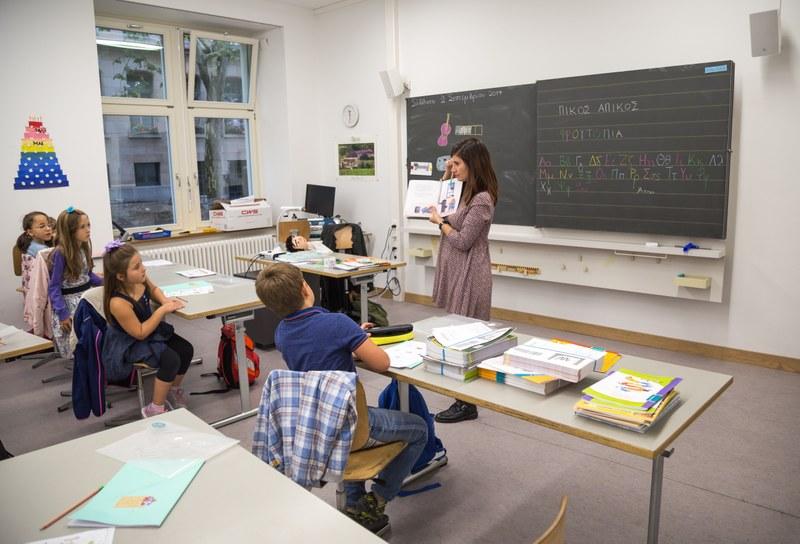 Einsicht in ein HSK-Griechisch-Klassenzimmer